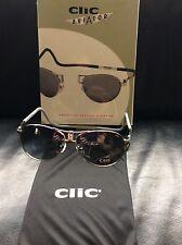 CliC Magnetic Aviator Metal Polarized Sunglasses, Around the Neck Sun Glasses