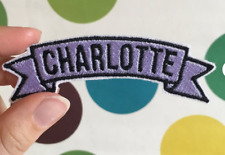 "Custom NAME TAG Embroidered ""Iron on"", Free Shipping"