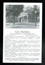 LIEDER AK: LILI MARLEEN (VOR DER KASERNE, VOR DEM GROSSEN TOR)