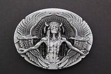 Chef indien deux flying eagles boucle de ceinture métal western cowboy indiens