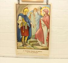 Antique Religious Chromolithograph Poster Jos Speybrouck Printed In Belgium