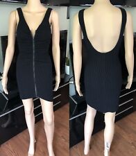 CHANEL RUNWAY SEXY KNIT OPEN BACK MINI DRESS FR 36