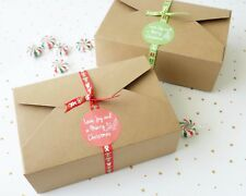 6x Christmas Large Gift Boxes XMAS Cookies Box Sweets Treats Lolly Chocolate
