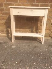 BESPOKE H80 W60 D20cm CONSOLE HALL TABLE CHUNKY UNTREATED 1 SHELF TAPERED LEGS