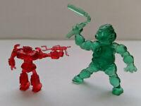 Vintage Robot Figure Red Japan Toy and Ninja Turtle Figure Green LOT