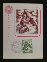 SAN MARINO MK 1962 DENTE GIGANTE MOUNTAIN BERG MAXIMUMKARTE MAXIMUM CARD MCc7786
