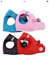 Polka Dot Dog Harness polka dot Pink Red Blue Black small Breeds soft waitcoat