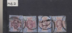 QUANTITY 1887-1992 9D PURPLE/BLUE UNCHECKED (SHADES ETC) FINE EXAMPLES
