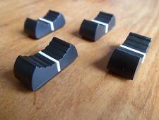X 4 fader potentiomètre bouton pour table de mixage 4 mm NOIR X 4 NEUF