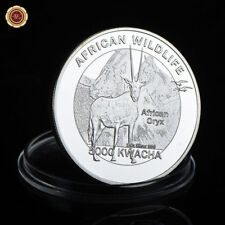 WR 2016 Zambia 5000 Kwacha African Wildlife Silver Coin Oryx Animal Collection