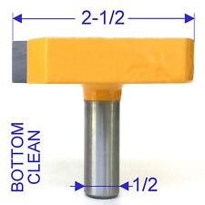 "1 pc 1/2"" Shank 2-1/2"" Diameter Bottom Cleaning Router Bit S"