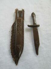 "MARX- Best of the West- Geronimo Accessory ""KNIFE & KNIFE SHEATH"" - Vintage!"