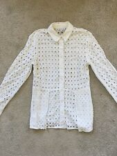 Warehouse White embroidery anglaise Shirt Size 6