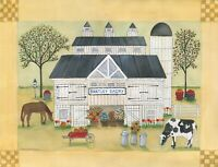 OrIgInAl FoLk ARTWaTeRCoLoR PaInTiNg BaRn HoRsE CoW MiLk DaIrY PuMpKiNs AppLeS