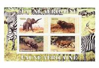African Animals -  Sheet of 4  - 2J-014