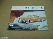 1955 Lincoln Capri convertible sales brochure literature folder