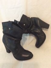 Urban Vintage Black Ankle Leather Boots Size 5