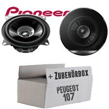 Pioneer Lautsprecher für Peugeot 107 10cm 100mm Auto 190W PAAR Boxen Einbauset