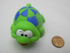 "LITTLE GREEN & BLUE BOX TURTLE Animal Plastic Cute 3"" Long Bath Toy Infantino"