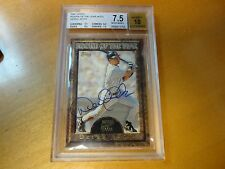 1997 Topps Rookie of the Year Auto Derek Jeter Beckett 7.5 New York Yankees