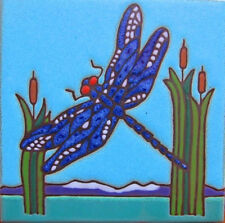 Ceramic Tile Dragonfly wall decor hot plate backsplash installation mural mosaic