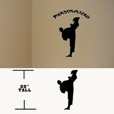 Taekwondo Personalized Martial Arts decal, Taekwondo Kung fu vinyl sticker