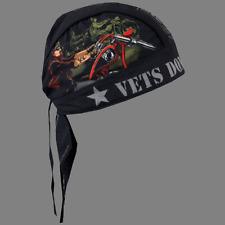 VETS DONT FORGET HEAD WRAP BIKER CAP