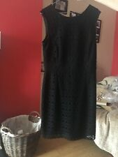 """DUNNES"" SIZE 14 BEAUTIFUL LINED BLACK LACE PARTY DRESS!!!"