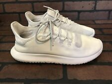 Adidas Running Shoes Cream Leather Lightweight Comfort Size 12