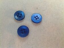 NEW 50 PC BAG ROYAL BLUE  PEARL FINISH 1/2 INCH BUTTON 4 HOLE
