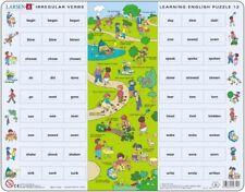 New Larsen Norway Learning English Puzzle 12 Irregular Verbs 54 pcs 024712 EN12