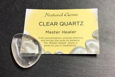 Clear Quartz Thumb Stone 40mm Crystal Crown Chakra Master Healer Cleansing