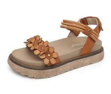 Women's Flower Platform Slingback Summer Boho Sandals Shoes Open Toe Bt15