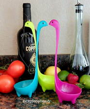 3 Lot Nessie Ladles Scotland Loch Ness Design Feet Upright Kitchen Soup Spoons