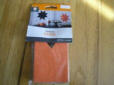 New Haning Stars 2 count 10 in DIA for Haning Decoration Black and Orange Party
