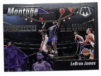 2019-20 Panini Mosaic #10 LeBron James Montage insert card Lakers