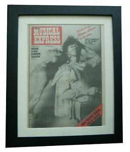 ROLLING STONES+NME 1975+RARE ORIGINAL+POSTER+QUALITY FRAMED+EXPRESS+GLOBAL SHIP