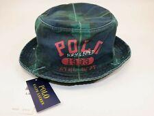 NWT $79.50 RALPH LAUREN L/XL Men's Blue YALE Plaid 1993 POLO Bucket Hat