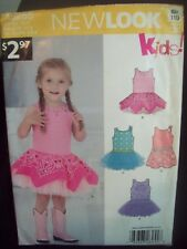 New Look Pattern A6255 Stretch Knit Bodice Dress with Overlay Skirt Sizes 1/2-4