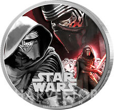 STAR WARS THE FORCE AWAKENS - KYLO REN - 1 OZ. SILVER PROOF COIN - OGP COA - NEW