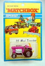 Matchbox Superfast nº 25b mod tractor 1. gußform con focos top blister