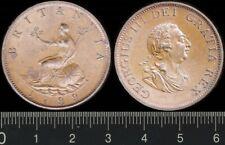 Australian Proclamation Coin: Great Britain: 1799 Half Penny King George IIII ½d