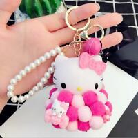 Hello Kitty Key Chain Keyring Pendant Bag Purse Car Ball Cluster Bell Keychain