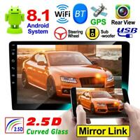 9'' 2DIN Android 8.1 Quad Core GPS Navi WIFI Bluetooth Car Stereo MP5 Player FM