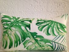 Monstera Outdoor Indoor Tropical Banana Palm Leaf Lumbar Retro Cushion Cover