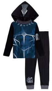 Boys Novelty Black Panther Dress Up Pyjamas Kids Full Length Marvel Avengers Pjs