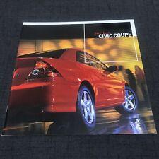 2004 Honda Civic Coupe Brochure Rare 01-05 02 03 USDM EM2 ES1 ES2 ES3 LX EX JDM