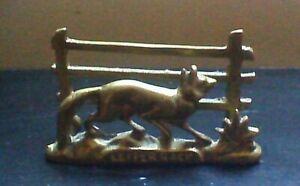 Brass fox letter rack