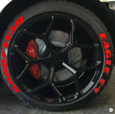"PERMANENT Tire Lettering GOOD YEAR EAGLE RED Stickers Wheel 14""-24"" Decal 1.25"""
