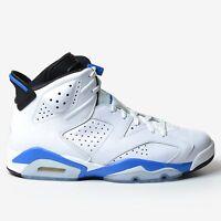 Air Jordan 6 Retro Sport Blue 2014 White Black Nike Men's OG 384664-107